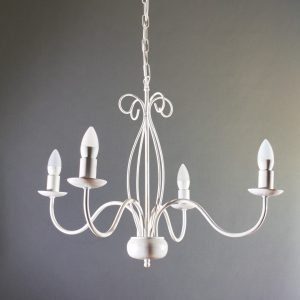 Κρεμαστό φωτιστικό 4 φώτα μεταλλικό σε λευκή απόχρωση