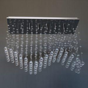 Κρυστάλλινο φωτιστικό 6 φώτα σε Inox