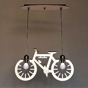 Παιδικό φωτιστικό κρεμαστό ξύλινο σχήμα ποδήλατο