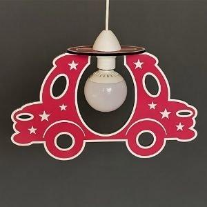 Παιδικό φωτιστικό κρεμαστό ξύλινο κόκκινο αυτοκινητάκι